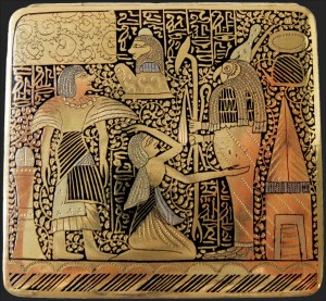 Sale Number 1143, Lot Number 3606, Stamp BoxesHieroglyphic Gold Case, Hieroglyphic Gold Case