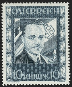 Sale Number 1143, Lot Number 3644, Austria incl. Lombardy-VenetiaAUSTRIA, 1936, 10sh Dollfuss (380; Michel 588), AUSTRIA, 1936, 10sh Dollfuss (380; Michel 588)