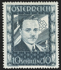 Sale Number 1143, Lot Number 3645, Austria incl. Lombardy-VenetiaAUSTRIA, 1936, 10sh Dollfuss (380; Michel 588), AUSTRIA, 1936, 10sh Dollfuss (380; Michel 588)