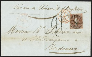 Sale Number 1143, Lot Number 3671, Brazil thru ChileCHILE, 1853, 5c Brown Red (1), CHILE, 1853, 5c Brown Red (1)