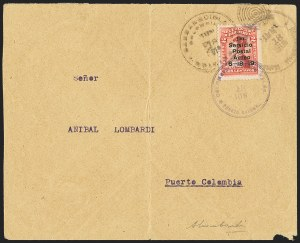 Sale Number 1143, Lot Number 3701, Colombia thru DenmarkCOLOMBIA, 1919, 2c Air Post (C1), COLOMBIA, 1919, 2c Air Post (C1)
