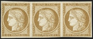 Sale Number 1143, Lot Number 3722, France incl. OfficesFRANCE, 1850, 10c Bister on Yellowish (1; Yvert 1), FRANCE, 1850, 10c Bister on Yellowish (1; Yvert 1)