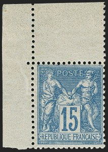 Sale Number 1143, Lot Number 3735, France incl. OfficesFRANCE, 1878, 15c Blue on Bluish (92b; Yvert 90a), FRANCE, 1878, 15c Blue on Bluish (92b; Yvert 90a)