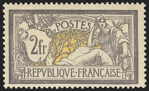 Sale Number 1143, Lot Number 3736, France incl. OfficesFRANCE, 1900, 2fr Gray Violet & Yellow (126; Yvert 122), FRANCE, 1900, 2fr Gray Violet & Yellow (126; Yvert 122)