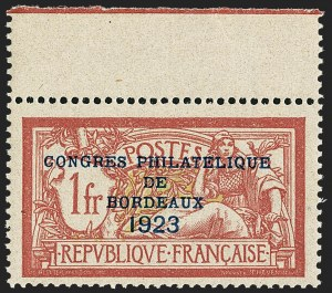 Sale Number 1143, Lot Number 3738, France incl. OfficesFRANCE, 1923, 1fr Bordeaux (197; Yvert 182), FRANCE, 1923, 1fr Bordeaux (197; Yvert 182)