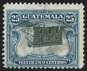 Sale Number 1143, Lot Number 3783, Germany thru GuatemalaGUATEMALA, 1911, 25c Blue & Black, Center Inverted (141a), GUATEMALA, 1911, 25c Blue & Black, Center Inverted (141a)