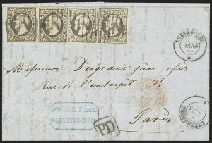 Sale Number 1143, Lot Number 3841, Lithuania thru LuxembourgLUXEMBOURG, 1852-59, 10c Gray Black (1; Michel 1d; Prifix 1), LUXEMBOURG, 1852-59, 10c Gray Black (1; Michel 1d; Prifix 1)