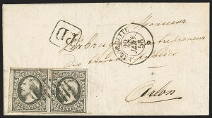 Sale Number 1143, Lot Number 3843, Lithuania thru LuxembourgLUXEMBOURG, 1852-59, 10c Gray Black (1; Michel 1d; Prifix 1), LUXEMBOURG, 1852-59, 10c Gray Black (1; Michel 1d; Prifix 1)