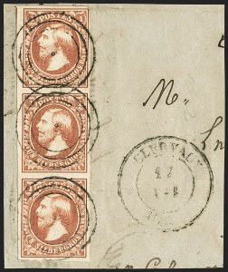 Sale Number 1143, Lot Number 3847, Lithuania thru LuxembourgLUXEMBOURG, 1852-59, 1sg Brown Red (2; Michel 2b; Prifix 2), LUXEMBOURG, 1852-59, 1sg Brown Red (2; Michel 2b; Prifix 2)