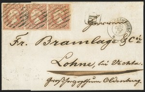 Sale Number 1143, Lot Number 3850, Lithuania thru LuxembourgLUXEMBOURG, 1852-59, 1sg Rose (3; Michel 2f; Prifix 2i), LUXEMBOURG, 1852-59, 1sg Rose (3; Michel 2f; Prifix 2i)