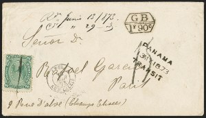 Sale Number 1143, Lot Number 3889, Puerto Rico thru SalvadorSALVADOR, 1867, 2r Green (3), SALVADOR, 1867, 2r Green (3)