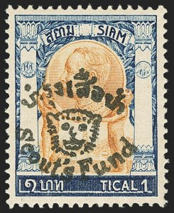 Sale Number 1143, Lot Number 3918, Syria thru TurkeyTHAILAND, 1920, 2s+3s - 5s+5s Scout's Fund Overprints (B18-B23), THAILAND, 1920, 2s+3s - 5s+5s Scout's Fund Overprints (B18-B23)