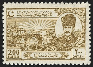 Sale Number 1143, Lot Number 3921, Syria thru TurkeyTURKEY, 1924, 1-1/2pi-200pi Treaty of Peace (625-632), TURKEY, 1924, 1-1/2pi-200pi Treaty of Peace (625-632)