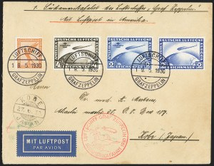 Sale Number 1143, Lot Number 3932, Flight CoversGERMANY, 1930, 2m, 4m South America Flight (C38-C39), GERMANY, 1930, 2m, 4m South America Flight (C38-C39)