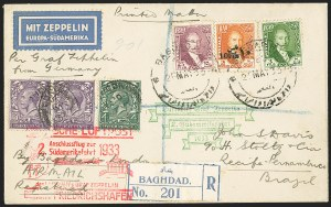 Sale Number 1143, Lot Number 3936, Flight Covers1933, May 21, Iraq Zeppelin Cover (Sieger 214B), 1933, May 21, Iraq Zeppelin Cover (Sieger 214B)
