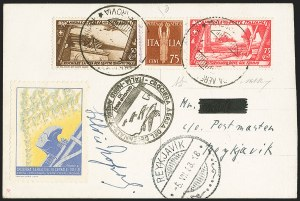 Sale Number 1143, Lot Number 3940, Flight CoversITALY, 1933 Balbo Flight, Italy to Iceland, ITALY, 1933 Balbo Flight, Italy to Iceland