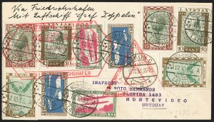Sale Number 1143, Lot Number 3943, Flight Covers1933, October 14-November 2, Century of Progress Flight, Latvia to Montevideo, Uruguay Via Brazil (Sieger 238), 1933, October 14-November 2, Century of Progress Flight, Latvia to Montevideo, Uruguay Via Brazil (Sieger 238)