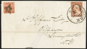 Sale Number 1144, Lot Number 188, 1851-56 Postal History: Carriers & LocalsSwarts' City Dispatch Post, New York N.Y., 1c Red (136L15), Swarts' City Dispatch Post, New York N.Y., 1c Red (136L15)