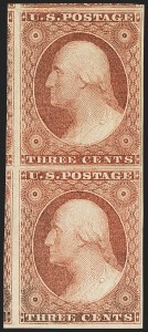 Sale Number 1144, Lot Number 83, 3c 1851-56 Issue, Dull Red & Shades (Scott 11-11A)3c Claret, Ty. II (11A), 3c Claret, Ty. II (11A)