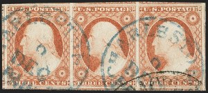 Sale Number 1144, Lot Number 89, 3c 1851-56 Issue, Dull Red & Shades (Scott 11-11A)3c Dull Red, Ty. II (11A), 3c Dull Red, Ty. II (11A)