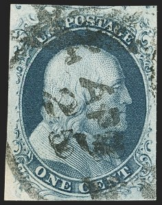 Sale Number 1145, Lot Number 315, 1851-56 Issue1c Blue, Ty. IIIa (8A), 1c Blue, Ty. IIIa (8A)