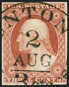 Sale Number 1145, Lot Number 317, 1851-56 Issue3c Dull Red, Ty. II (11A), 3c Dull Red, Ty. II (11A)