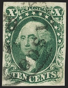 Sale Number 1145, Lot Number 320, 1851-56 Issue10c Green, Ty. I (13), 10c Green, Ty. I (13)