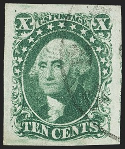 Sale Number 1145, Lot Number 322, 1851-56 Issue10c Green, Ty. II (14), 10c Green, Ty. II (14)