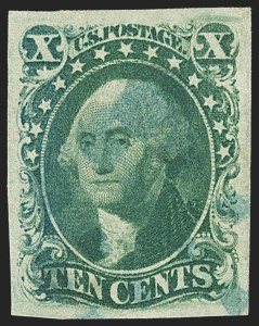 Sale Number 1145, Lot Number 323, 1851-56 Issue10c Green, Ty. III (15), 10c Green, Ty. III (15)