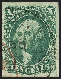 Sale Number 1145, Lot Number 326, 1851-56 Issue10c Green, Ty. IV (16), 10c Green, Ty. IV (16)