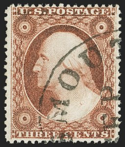 Sale Number 1145, Lot Number 336, 1857-60 Issue3c Dull Red, Ty. IV (26A), 3c Dull Red, Ty. IV (26A)