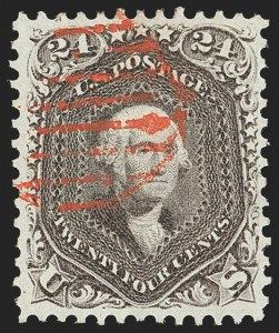 Sale Number 1145, Lot Number 351, 1861-68 Issues24c Red Lilac (70), 24c Red Lilac (70)
