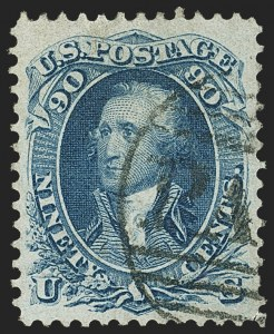 Sale Number 1145, Lot Number 353, 1861-68 Issues90c Blue (72), 90c Blue (72)
