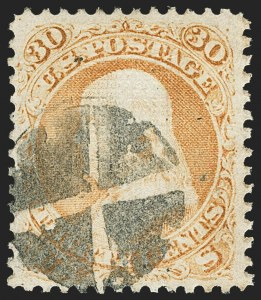 Sale Number 1145, Lot Number 364, 1861-68 Issues30c Orange, F. Grill (100), 30c Orange, F. Grill (100)