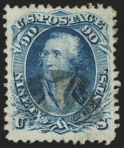 Sale Number 1145, Lot Number 365, 1861-68 Issues90c Blue, F. Grill (101), 90c Blue, F. Grill (101)