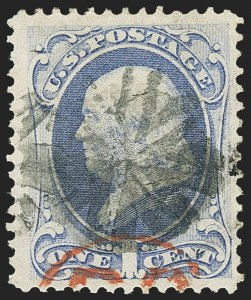 Sale Number 1145, Lot Number 390, 1870-93 Bank Note Issues1c Ultramarine, H. Grill (134), 1c Ultramarine, H. Grill (134)