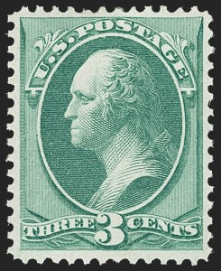 Sale Number 1145, Lot Number 391, 1870-93 Bank Note Issues3c Green, H. Grill (136), 3c Green, H. Grill (136)