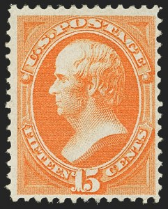 Sale Number 1145, Lot Number 392, 1870-93 Bank Note Issues15c Orange, H. Grill (141), 15c Orange, H. Grill (141)