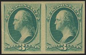 Sale Number 1145, Lot Number 393, 1870-93 Bank Note Issues3c Green, Imperforate (147c, 155P5a), 3c Green, Imperforate (147c, 155P5a)