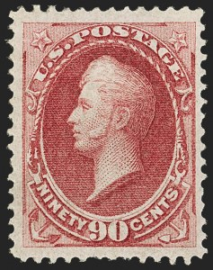 Sale Number 1145, Lot Number 396, 1870-93 Bank Note Issues90c Carmine (155), 90c Carmine (155)