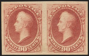 Sale Number 1145, Lot Number 406, 1870-93 Bank Note Issues90c Carmine, Imperforate (191b), 90c Carmine, Imperforate (191b)