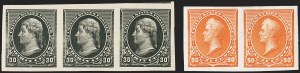 Sale Number 1145, Lot Number 412, 1870-93 Bank Note Issues1c-90c 1890-93 Issue, Imperforate (219a-229a), 1c-90c 1890-93 Issue, Imperforate (219a-229a)