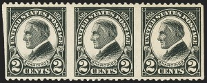 Sale Number 1145, Lot Number 492, Modern Errors (Scott 557a thru 832f)2c Harding, Horizontal Pair, Imperforate Vertically (610a), 2c Harding, Horizontal Pair, Imperforate Vertically (610a)