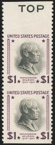 Sale Number 1145, Lot Number 504, Modern Errors (Scott 557a thru 832f)$1.00 Presidential, 1938 Printing, Vertical Pair, Imperforate Horizontally (832a), $1.00 Presidential, 1938 Printing, Vertical Pair, Imperforate Horizontally (832a)