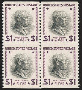Sale Number 1145, Lot Number 505, Modern Errors (Scott 557a thru 832f)$1.00 Presidential, 1938 Printing, Vertical Pair, Imperforate Horizontally (832a), $1.00 Presidential, 1938 Printing, Vertical Pair, Imperforate Horizontally (832a)