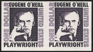 Sale Number 1145, Lot Number 527, Modern Errors (Scott 909a thru 1355f)$1.00 Eugene O'Neill Coil, Imperforate Pair (1305Cd), $1.00 Eugene O'Neill Coil, Imperforate Pair (1305Cd)