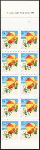 Sale Number 1145, Lot Number 658, Modern Errors (Scott 2438e thru 2853b)15c Umbrella, Booklet Pane of 10, Blue Omitted (2443b), 15c Umbrella, Booklet Pane of 10, Blue Omitted (2443b)