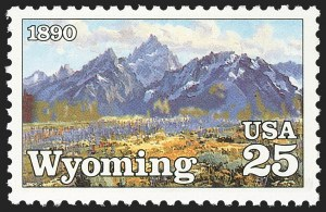 Sale Number 1145, Lot Number 659, Modern Errors (Scott 2438e thru 2853b)25c Wyoming Statehood Centennial, Black Omitted (2444a), 25c Wyoming Statehood Centennial, Black Omitted (2444a)