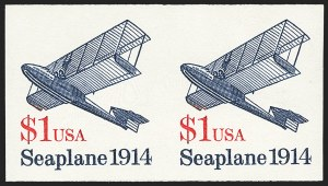 Sale Number 1145, Lot Number 660, Modern Errors (Scott 2438e thru 2853b)$1.00 Seaplane Coil, Imperforate Pair (2468a), $1.00 Seaplane Coil, Imperforate Pair (2468a)