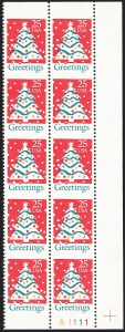 Sale Number 1145, Lot Number 665, Modern Errors (Scott 2438e thru 2853b)25c Greetings, Vertical Pair, Imperforate Horizontally (2515a), 25c Greetings, Vertical Pair, Imperforate Horizontally (2515a)